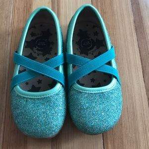 Livie and Luca turquoise sparkly flats 9